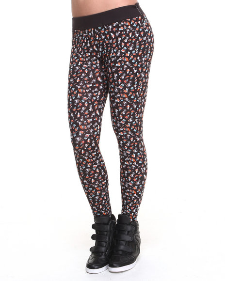 Lrg - Women Black Elastica Leggings