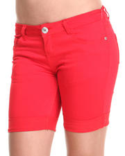 Women - Formulated Rolled Bermuda Shorts