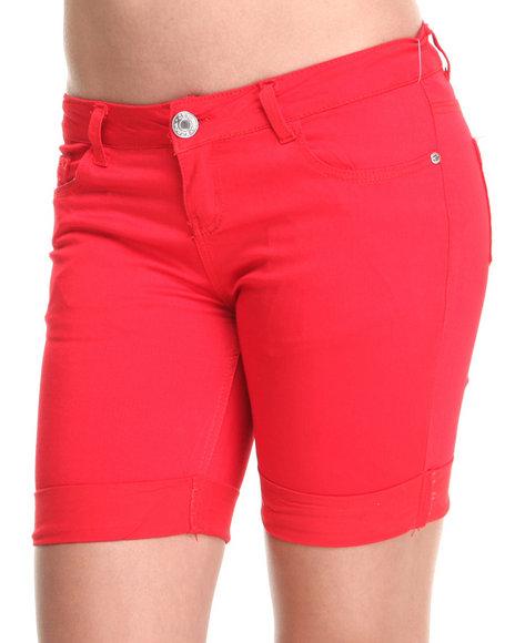 Basic Essentials - Formulated Rolled Bermuda Shorts