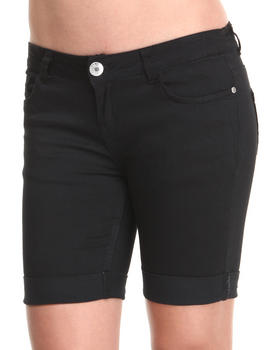 Basic Essentials - Rolled Bermuda Shorts