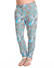 Women - Allover Paisley Challis Drawstring Pants