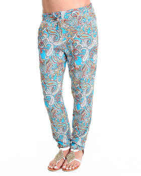 Basic Essentials - Allover Paisley Challis Drawstring Pants