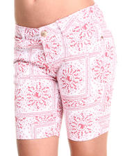 Bottoms - Bandana Print Bermuda Shorts