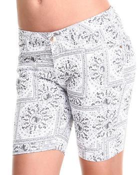 Basic Essentials - Bandana Print Bermuda Shorts