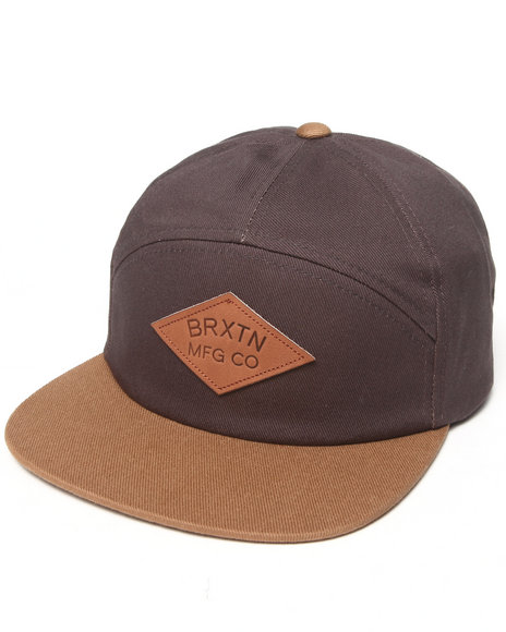 Brixton Men Wharf Strapback Cap Brown