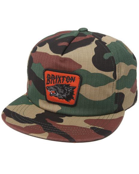 Brixton Men Tex Snapback Cap Camo
