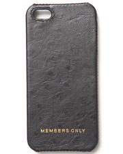 Members Only - iPhone 5 Black Ostrich Genuine Leather Case (Fits 5/5S)