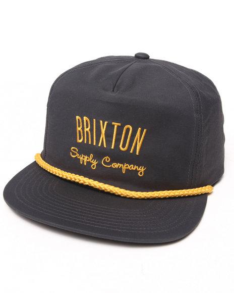 Brixton Carbon Snapback Cap Gold