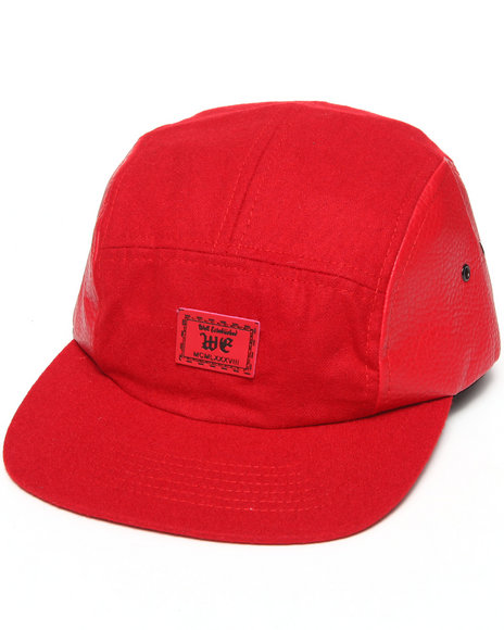 Well Established Drop 5-Panel Clock Hat Red
