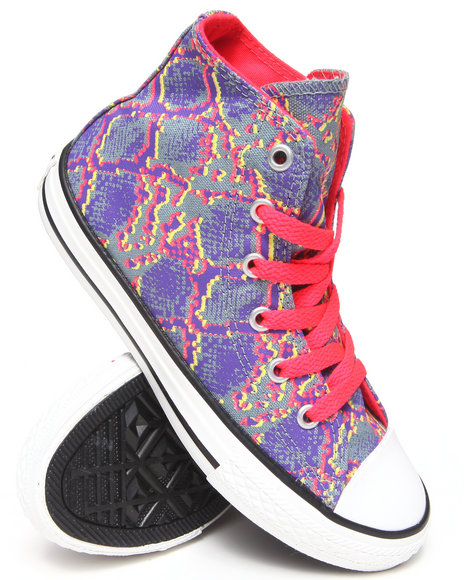 Converse Girls Purple Chuck Taylor All Star Hi (11-3)