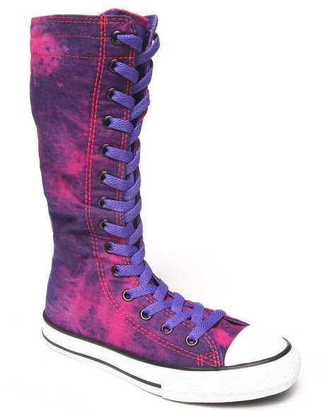 Converse - Girls Pink,Purple Chuck Taylor All Star Tall (11-6) - $46.99