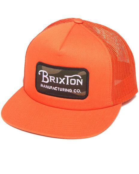Brixton Grade Mesh Snapback Cap Orange