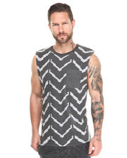 Shirts - Loiter Chevron Muscle Tee