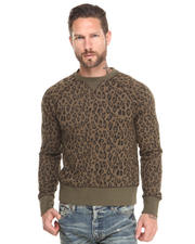 Sweatshirts - Leopard Crewneck Sweatshirt