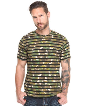PRPS - Abstract Camo Tee with Stripes