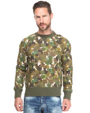 Sweatshirts - Abstract Camo Crewneck Sweatshirt