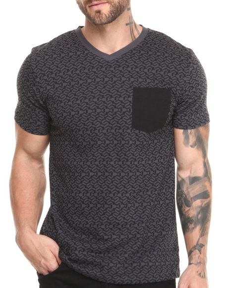 Buyers Picks - Men Black Electric V-Neck Tee