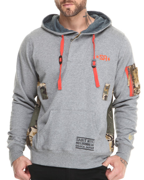 Sabit Grey Flight Hoodie