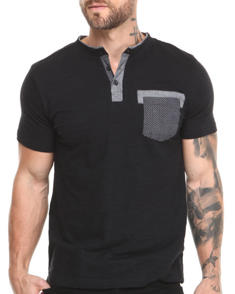 Buyers Picks - Men Black Imperial Henley S/S Tee