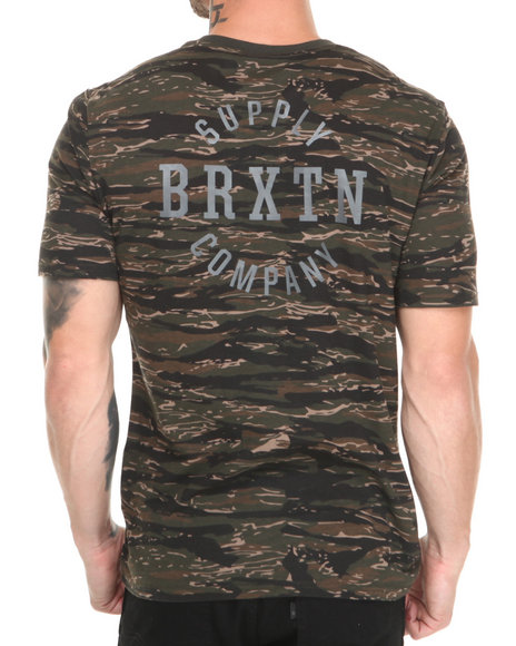 Brixton - Men Camo,Green Morton Tee