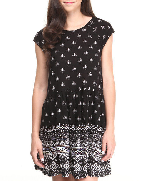 Minkpink - Women Black Native Nights Dress