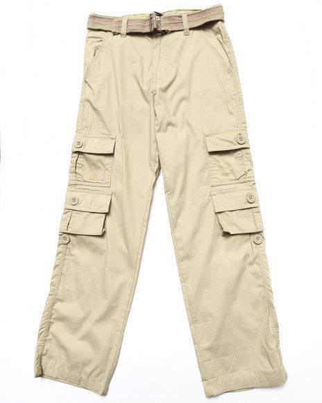 Akademiks - Boys Khaki Belted Cargo Pants (8-20)