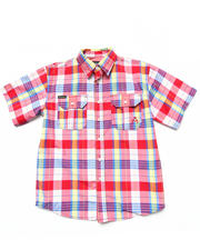Tops - S/S PLAID WOVEN (8-20)