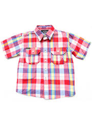 Sizes 4-7x - Kids - S/S PLAID WOVEN (4-7)
