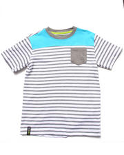Akademiks - STRIPE BLOCKED TEE (8-20)