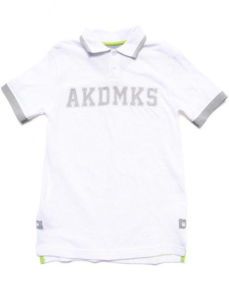 Akademiks Boys White Pique Akdmks Polo (8-20)