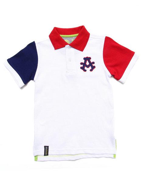 Akademiks - Boys White Colorblocked Polo (4-7) - $19.99