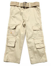 Bottoms - BELTED CARGO PANTS (2T-4T)