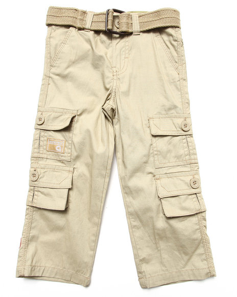 Akademiks - BELTED CARGO PANTS (2T-4T)