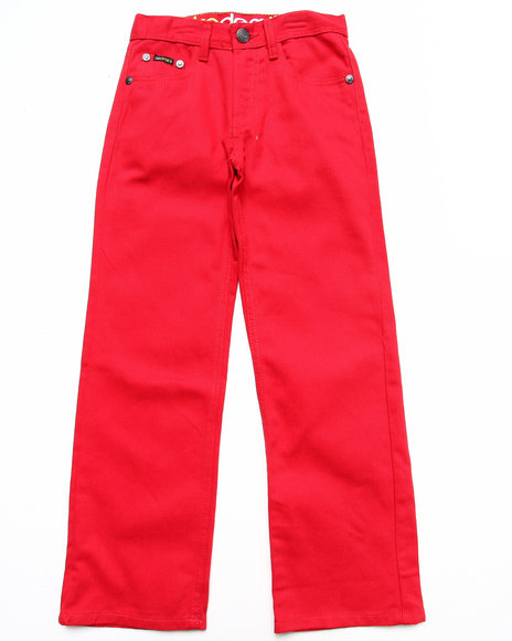Akademiks Boys Red Colored Twill Jeans (8-20)