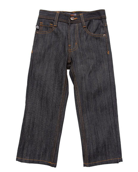 Akademiks - Boys Raw Wash Rolodex Signature Jeans (4-7)