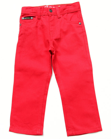 Akademiks - Boys Red Colored Twill Jeans (2T-4T)