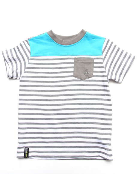 Akademiks - STRIPE BLOCKED TEE (4-7)