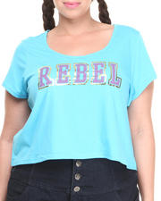 "COOGI - Two-Tone ""Rebel"" Crop Top (Plus)"
