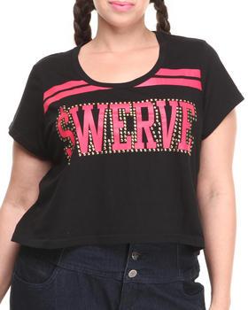 "COOGI - Short Sleeve ""Swerve"" Crop Top (Plus)"