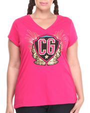 Tops - CG V-Neck Tee (Plus)