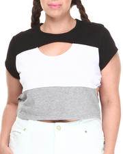 Women - Colorblock Active Cropped Top (Plus)