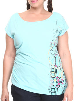 Baby Phat - Screen Print Asymmetrical Top (Plus)