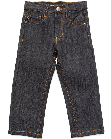 Akademiks - Boys Raw Wash Rolodex Signature Jeans (2T-4T)