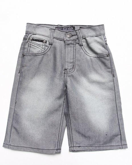 Arcade Styles - Boys Raw Wash Shine Denim Shorts (4-7)