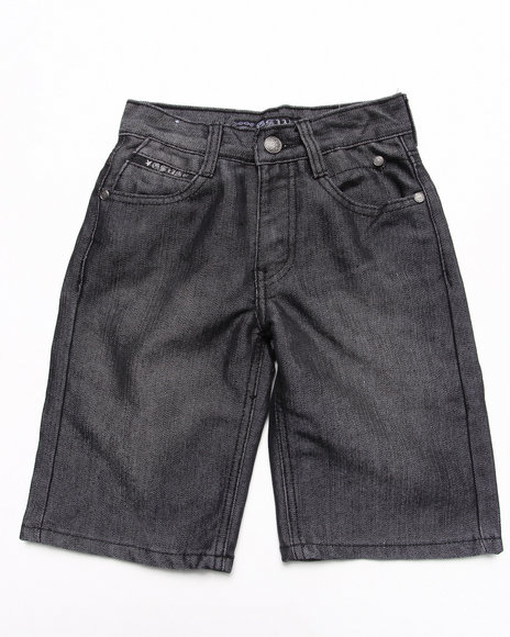 Arcade Styles - Boys Raw Wash Flap Pocket Shine Denim Shorts (4-7)