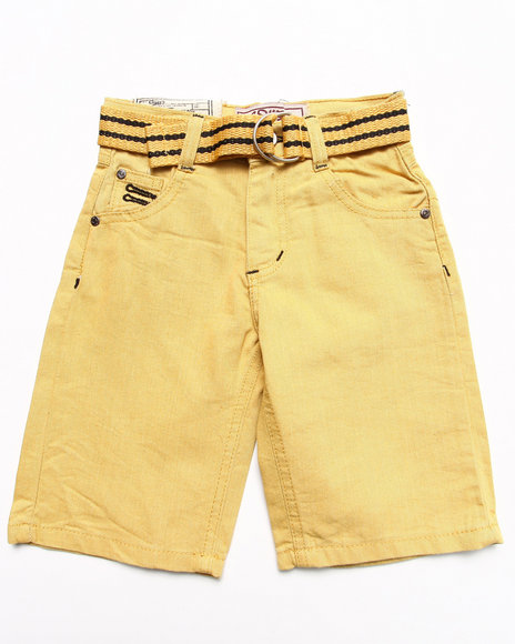 Arcade Styles - Boys Yellow Colored Denim Shorts (4-7)