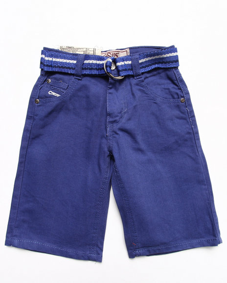 Arcade Styles - Boys Blue Colored Denim Shorts (4-7)