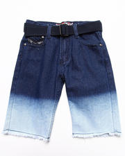 Bottoms - DIP DYE DENIM SHORTS (8-18)