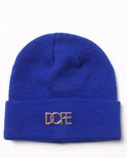 DOPE - Gold Metal Logo Beanie