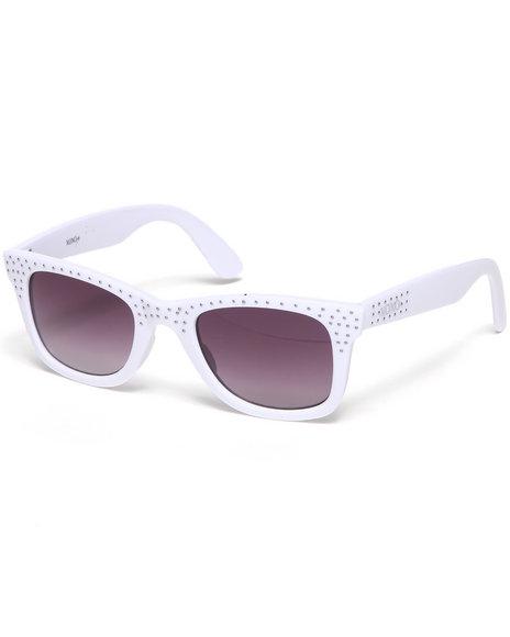 Xoxo Kitty Cat Stones Sunglasses White